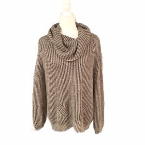 Hippie Laundry Olive Cowl Neck Oversized Sweater